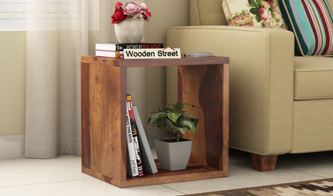 Norma Side End Table (Teak Finish)-1