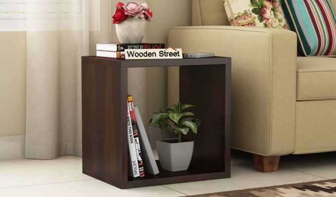 Norma Side End Table (Walnut Finish)-1