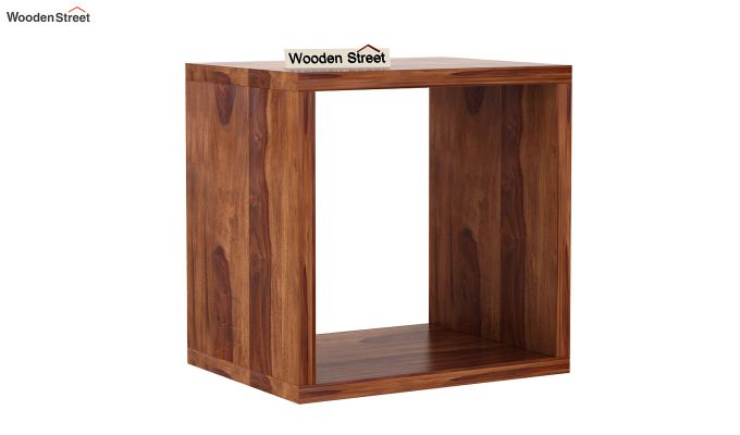 Norma Side End Table (Teak Finish)-3