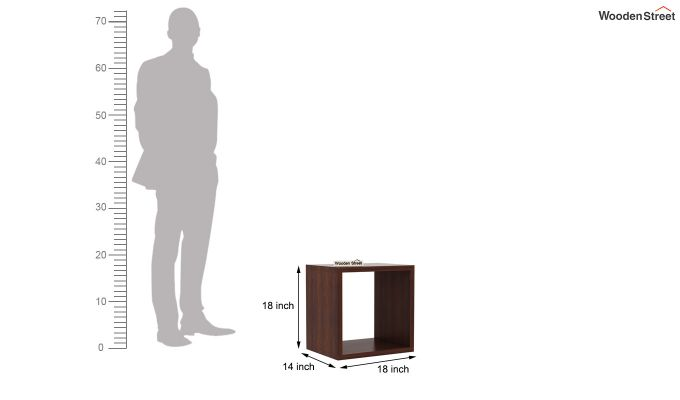 Norma Side End Table (Walnut Finish)-6