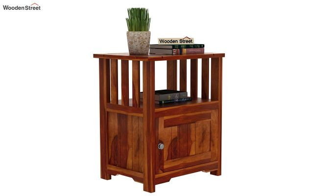 Orca Chair Side End Table (Honey Finish)-2