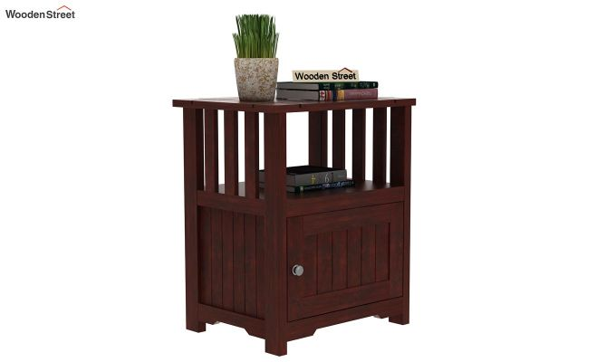 Orca Chair Side End Table (Mahogany Finish)-1