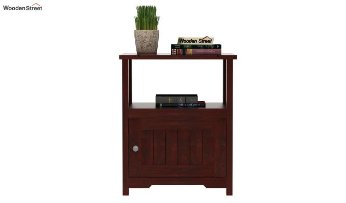 Orca Chair Side End Table (Mahogany Finish)-2