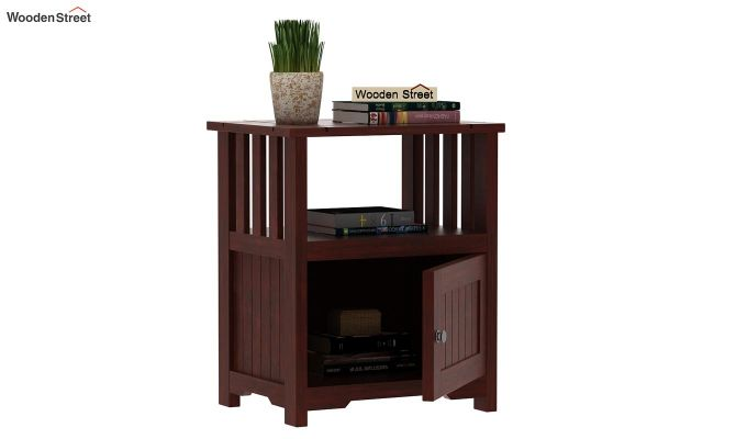 Orca Chair Side End Table (Mahogany Finish)-3