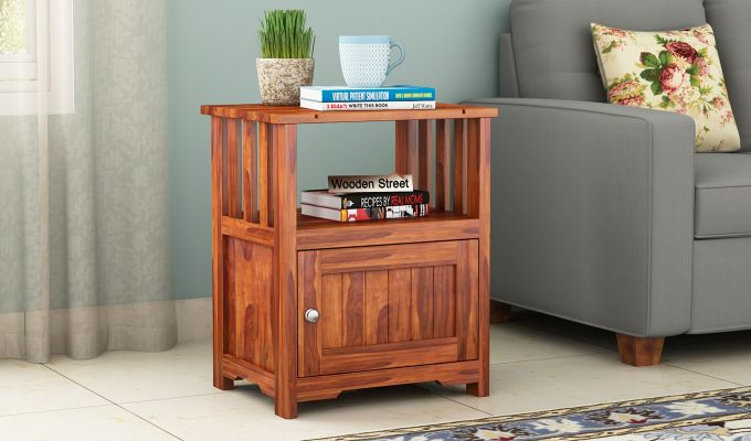 Orca Chair Side End Table (Honey Finish)-1
