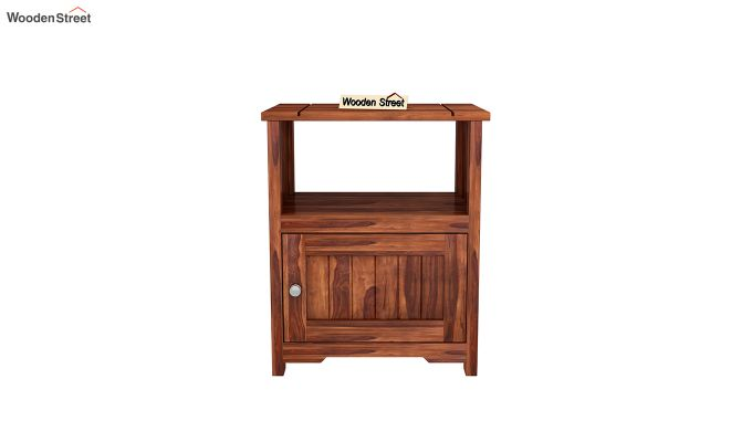 Orca Chair Side End Table (Honey Finish)-3