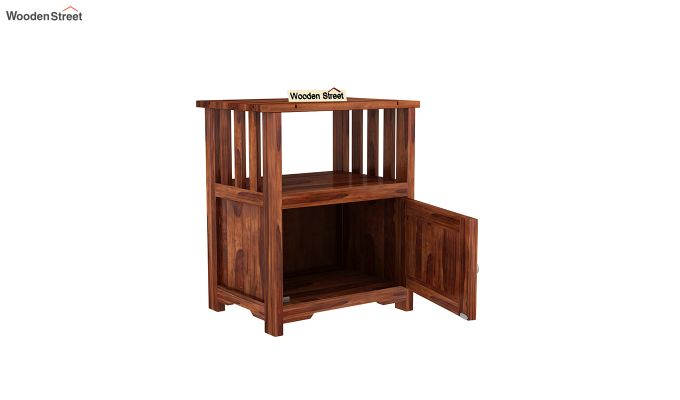 Orca Chair Side End Table (Honey Finish)-4