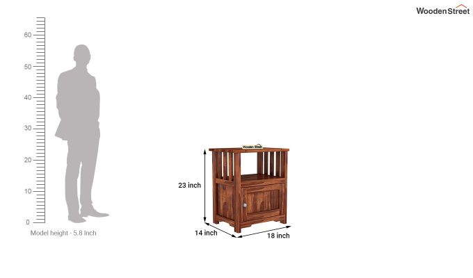 Orca Chair Side End Table (Honey Finish)-6