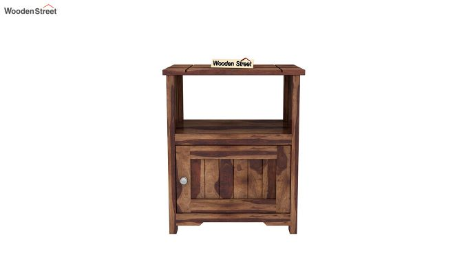 Orca Chair Side End Table (Teak Finish)-4