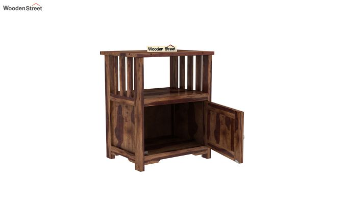 Orca Chair Side End Table (Teak Finish)-5