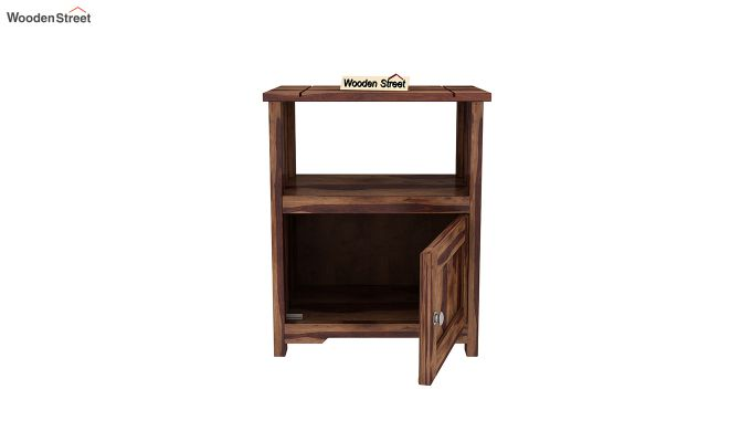 Orca Chair Side End Table (Teak Finish)-3