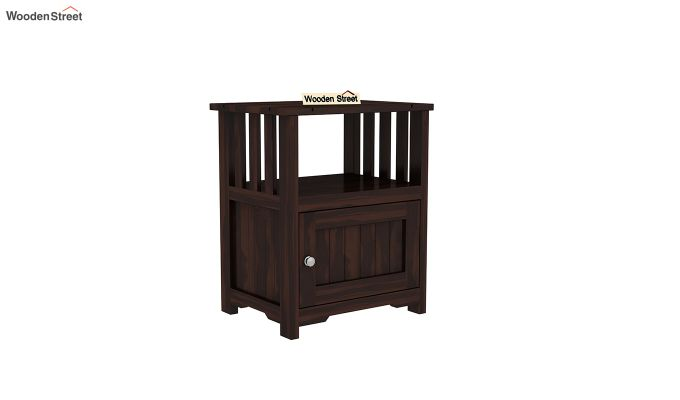 Orca Chair Side End Table (Walnut Finish)-2