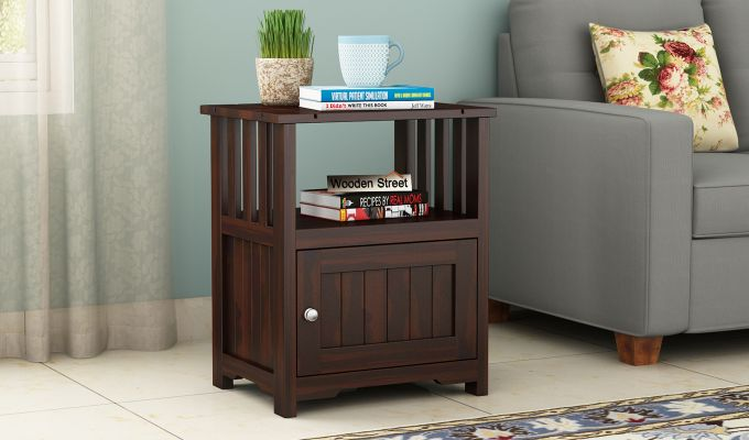 Orca Chair Side End Table (Walnut Finish)-1