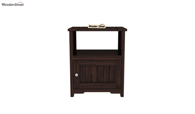 Orca Chair Side End Table (Walnut Finish)-3