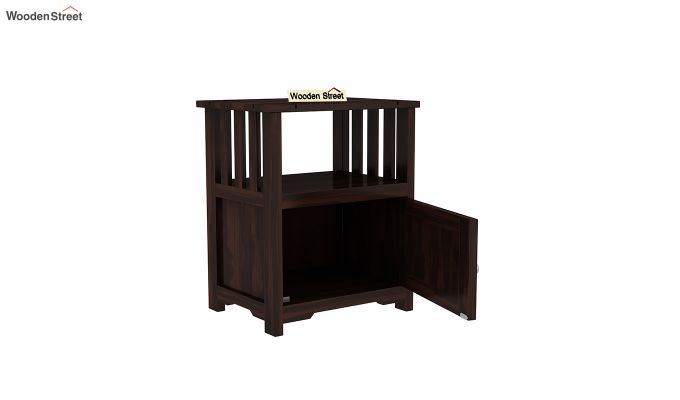 Orca Chair Side End Table (Walnut Finish)-4