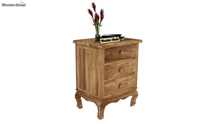 Oriole Side End Table (Natural Finish)-2
