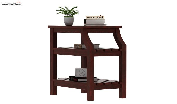 Patrin Chair Side End Table (Mahogany Finish)-1