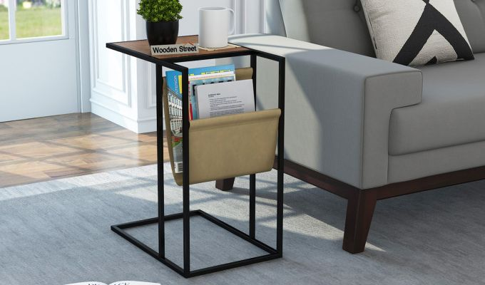 Leeds End Table (Teak Finish)-1