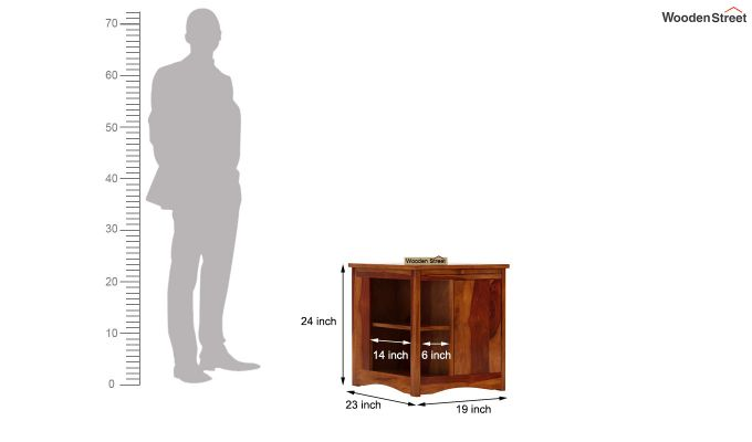Ribero Side End Table (Honey Finish)-6