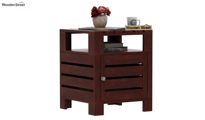 Saldon Chair Side End Table (Mahogany Finish)-1