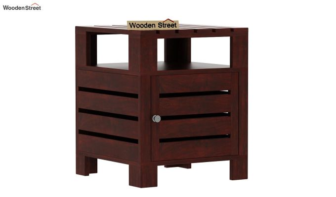 Saldon Chair Side End Table (Mahogany Finish)-3