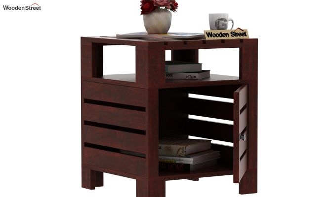 Saldon Chair Side End Table (Mahogany Finish)-4