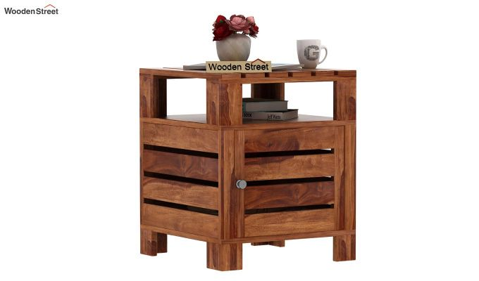 Saldon Chair Side End Table (Teak Finish)-1