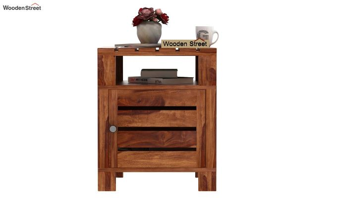 Saldon Chair Side End Table (Teak Finish)-2