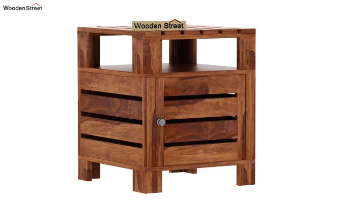 Saldon Chair Side End Table (Teak Finish)-3
