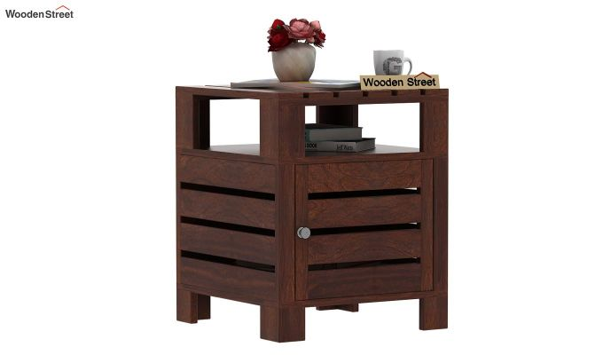 Saldon Chair Side End Table (Walnut Finish)-1