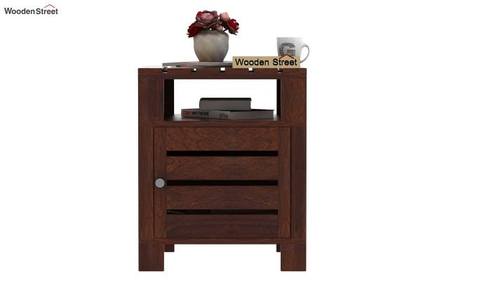 Saldon Chair Side End Table (Walnut Finish)-2