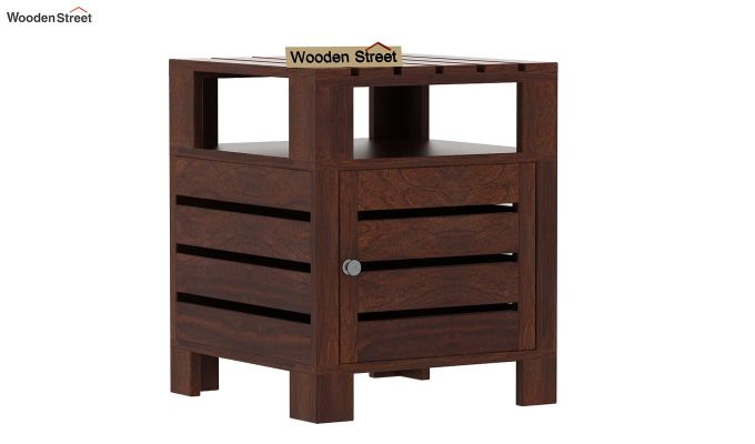 Saldon Chair Side End Table (Walnut Finish)-3