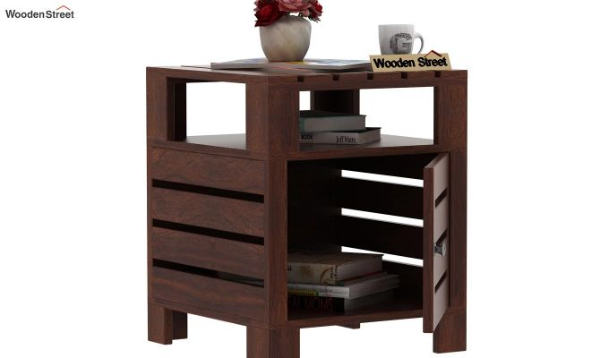 Saldon Chair Side End Table (Walnut Finish)-4