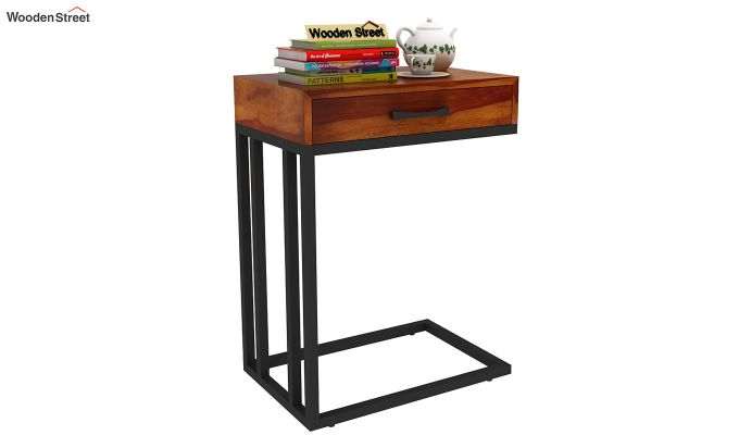 Salvo Side Table With Drawer (Honey Finish)-1
