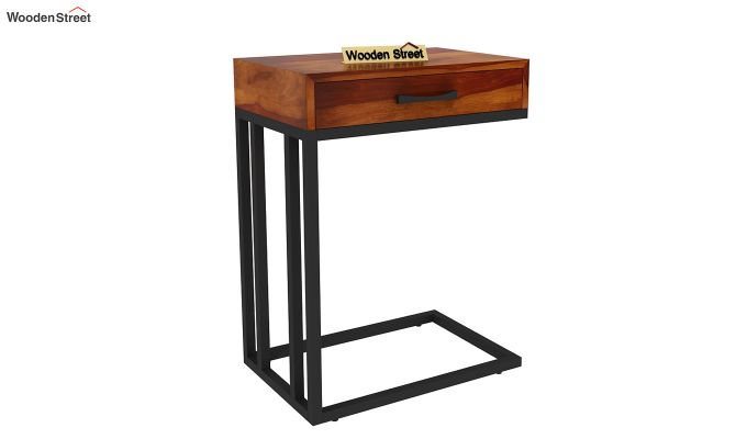 Salvo Side Table With Drawer (Honey Finish)-3