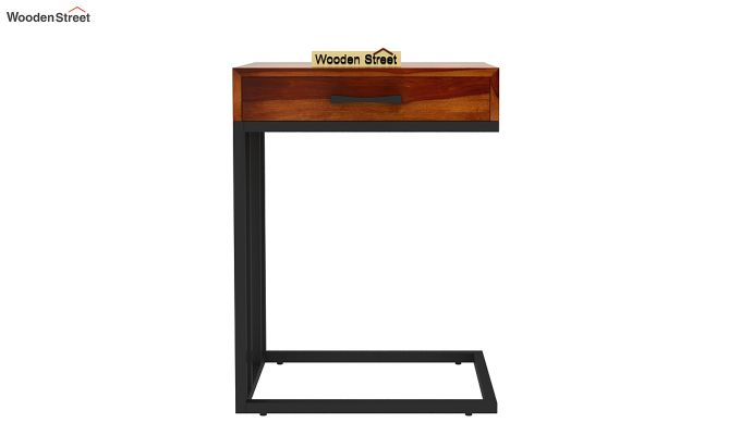 Salvo Side Table With Drawer (Honey Finish)-4