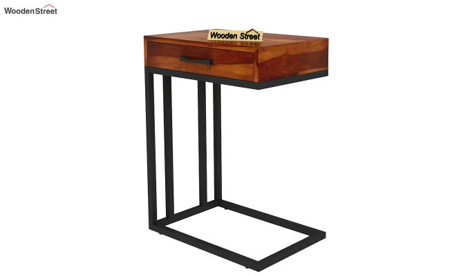 Salvo Side Table With Drawer (Honey Finish)-5