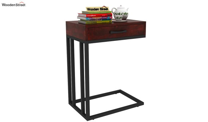 Salvo Side Table With Drawer (Mahogany Finish)-1