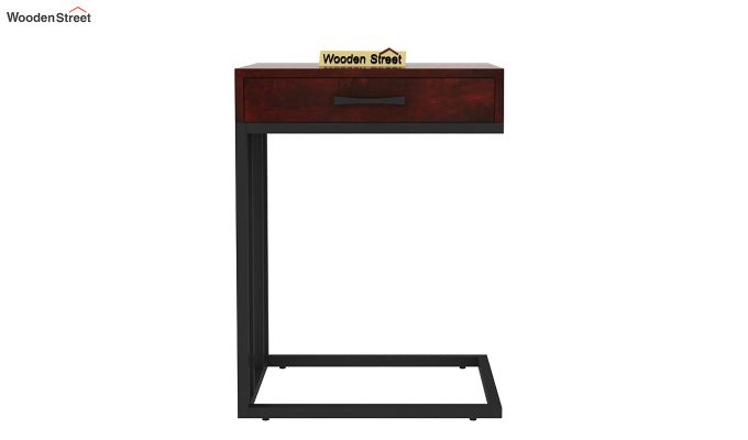 Salvo Side Table With Drawer (Mahogany Finish)-4