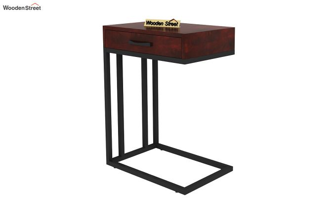 Salvo Side Table With Drawer (Mahogany Finish)-5
