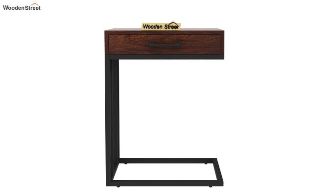 Salvo Side Table With Drawer (Walnut Finish)-4