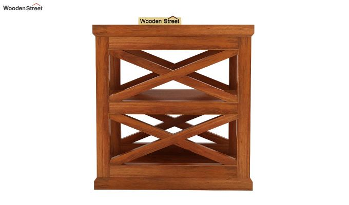 Scribble Chair Side End Table (Honey Finish)-2