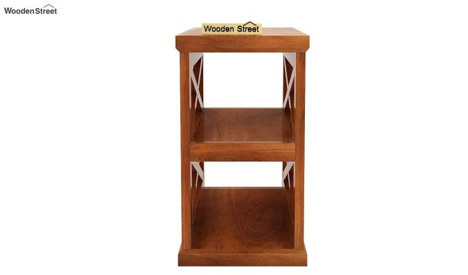 Scribble Chair Side End Table (Honey Finish)-3