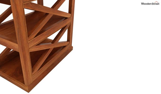 Scribble Chair Side End Table (Honey Finish)-4