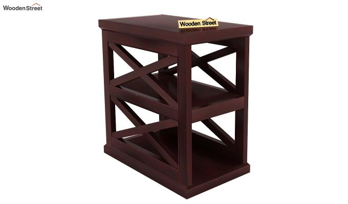Scribble Chair Side End Table (Mahogany Finish)-1