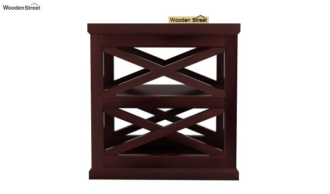 Scribble Chair Side End Table (Mahogany Finish)-2