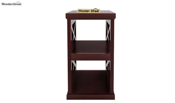 Scribble Chair Side End Table (Mahogany Finish)-3
