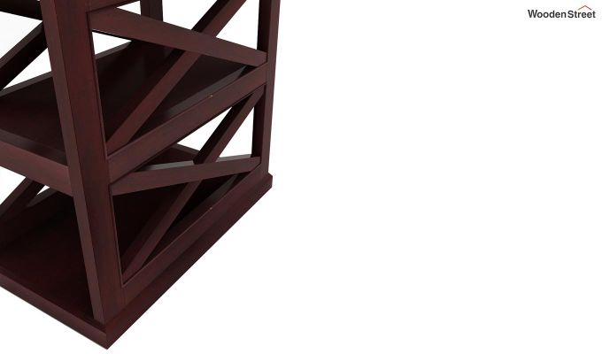 Scribble Chair Side End Table (Mahogany Finish)-4