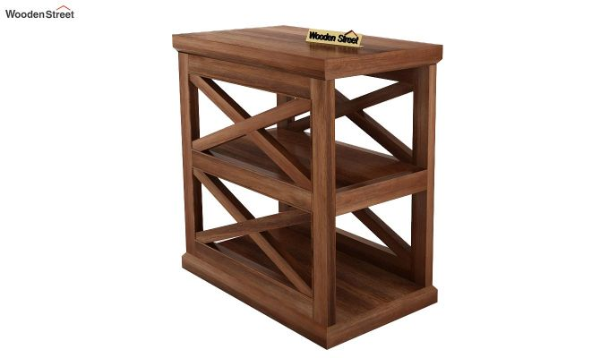Scribble Chair Side End Table (Teak Finish)-2