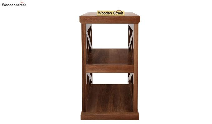 Scribble Chair Side End Table (Teak Finish)-4